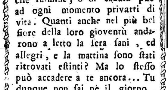 """Morir di """"goccia"""" nel 1819"""