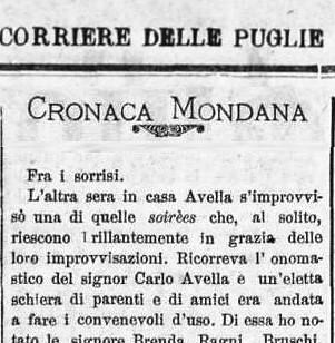 Cronaca mondana del 1892